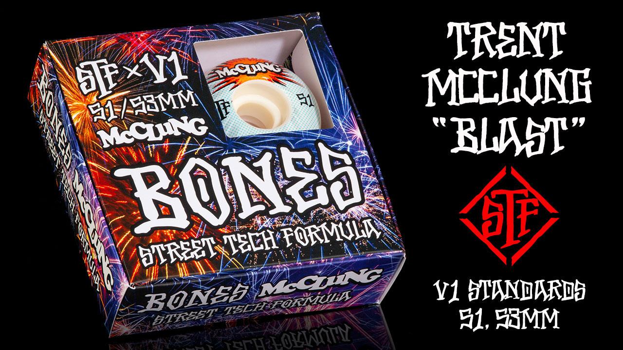 BONES WHEESLS STF Pro Trent McClung Blast Skateboard Wheels