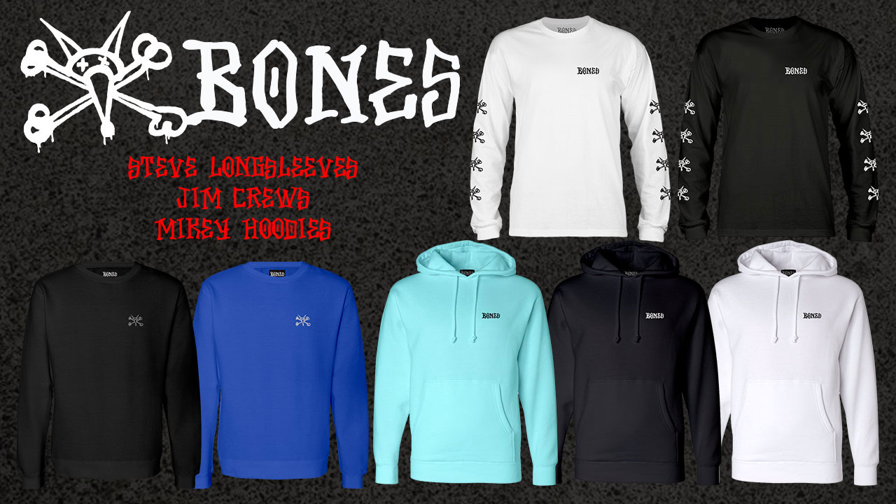 BONES Wheels Long Sleeve Shirts & Sweatshirts