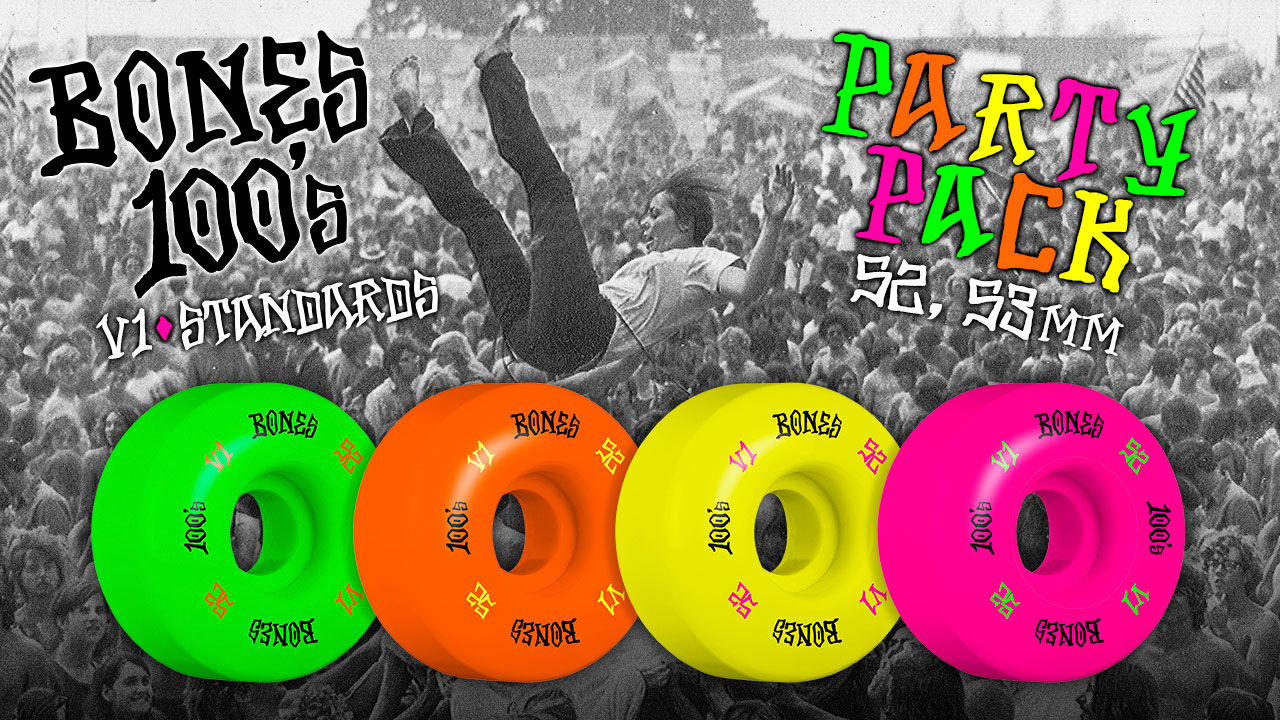 BONES Wheels 100's Party Pack #4 OG Formula Skateboard Wheels