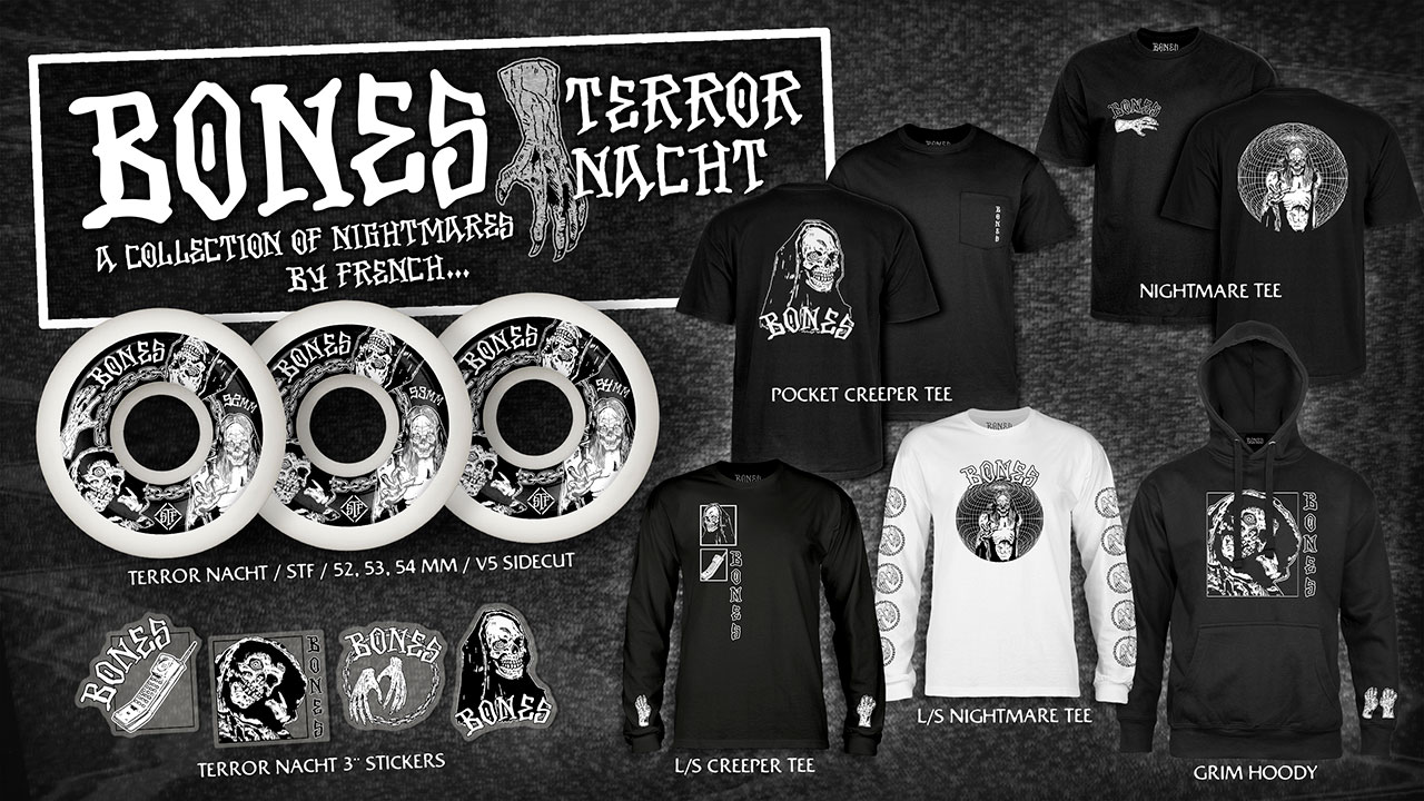 BONES Wheels Terror Nacht Collection by French