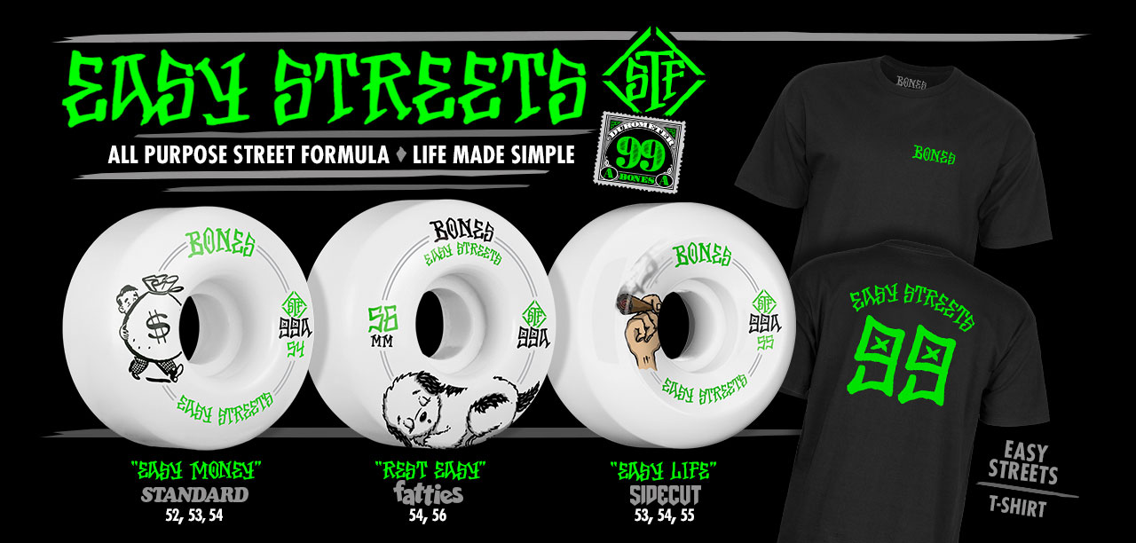 BONES Wheels Easy Streets Collection