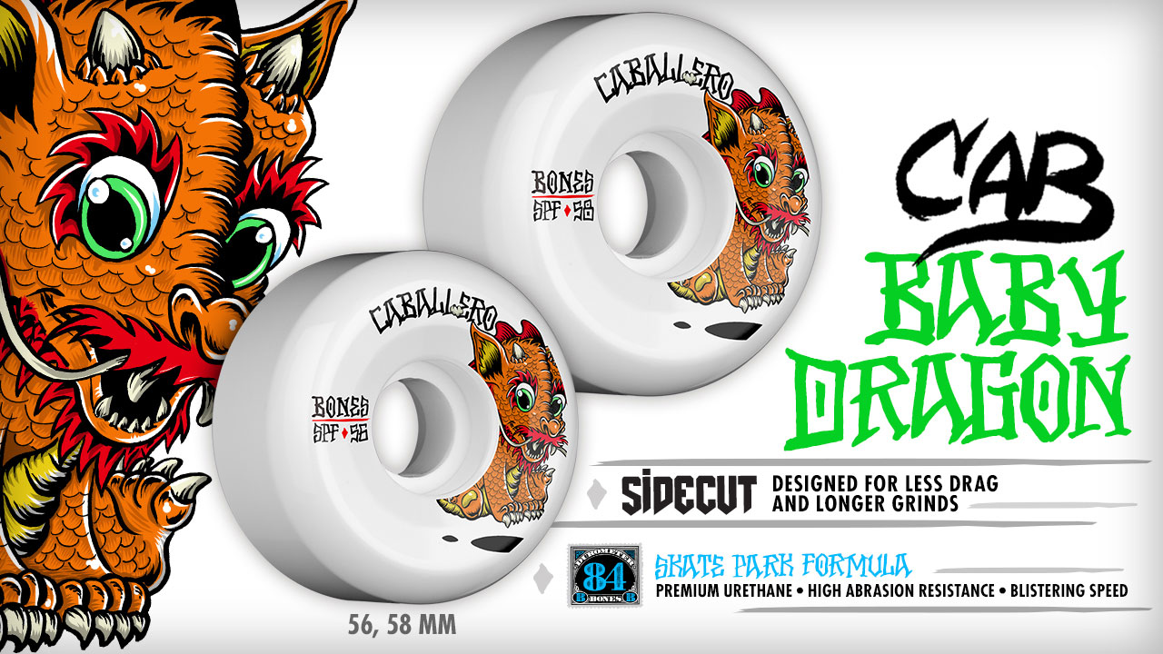 BONES Wheels - Steve Caballero Baby Dragon Wheels