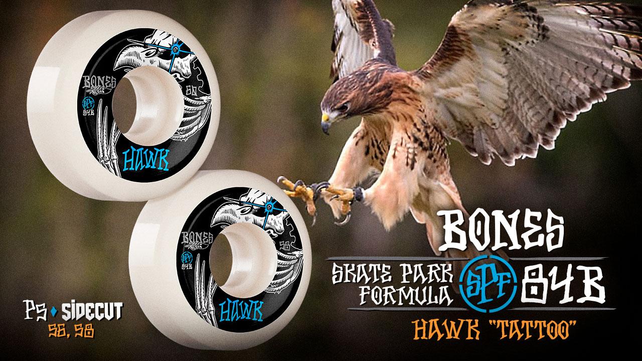 BONES WHEELS - Hawk 'Tattoo' Wheels