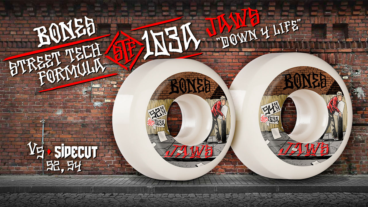 BONES WHEELS - Jaws 'Down for Life'