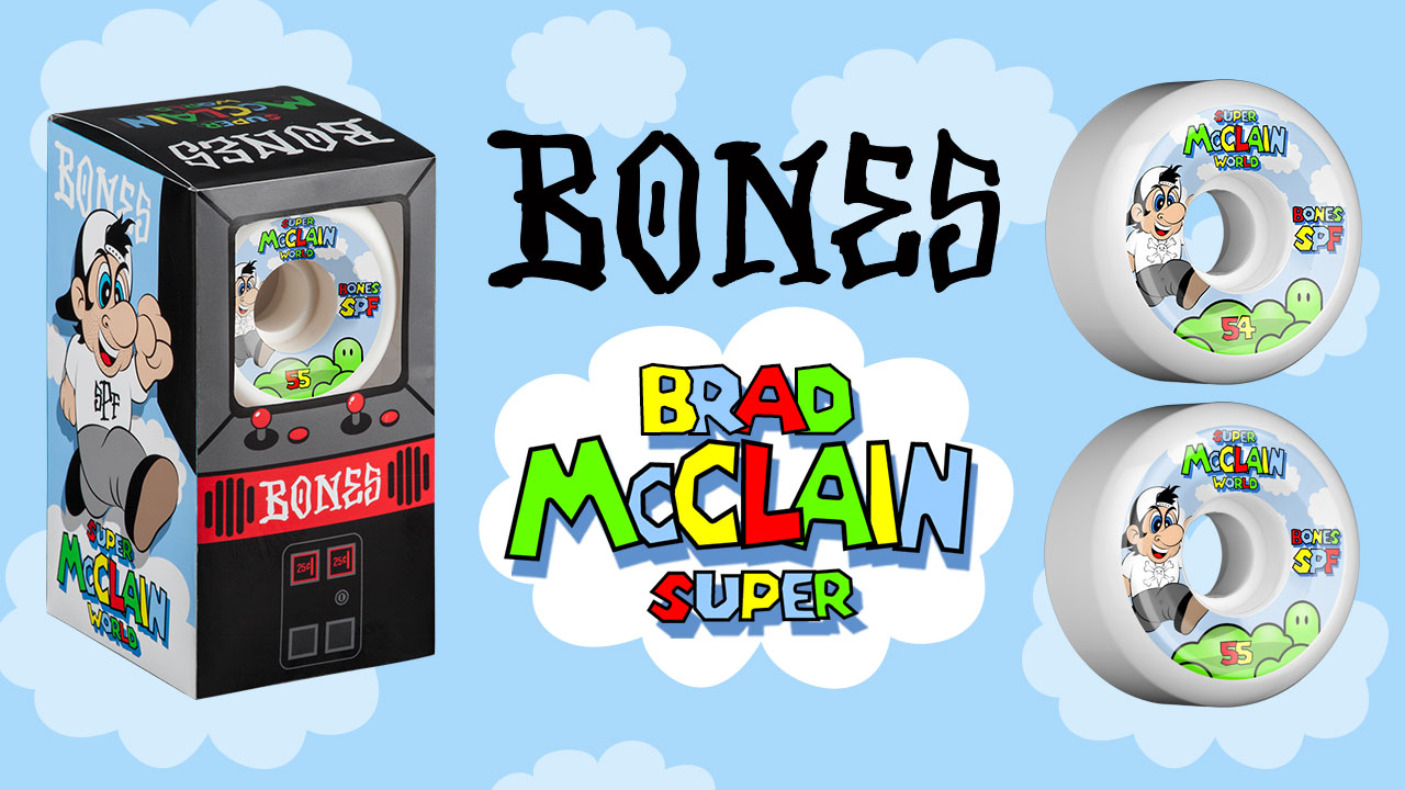 BONES Brad McClain new 'Super' Pro Skateboard Wheels