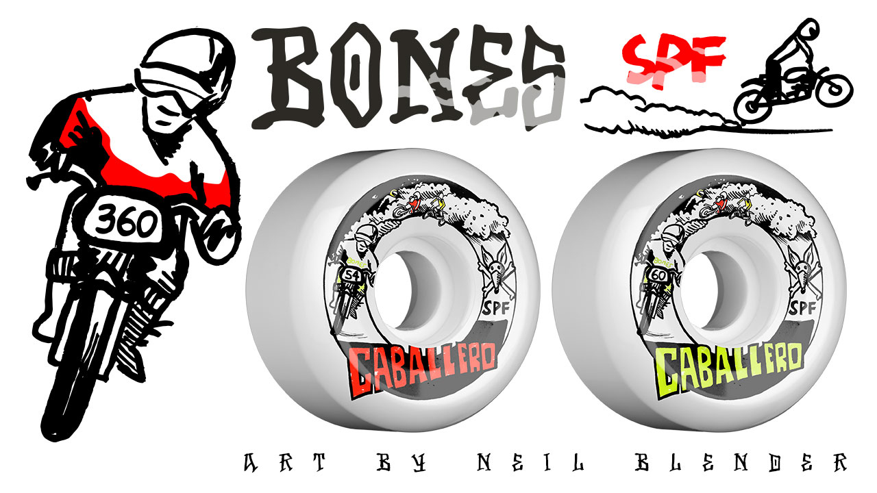 BONES Wheels SPF Pro Caballero X Blender Moto Skateboard Wheel