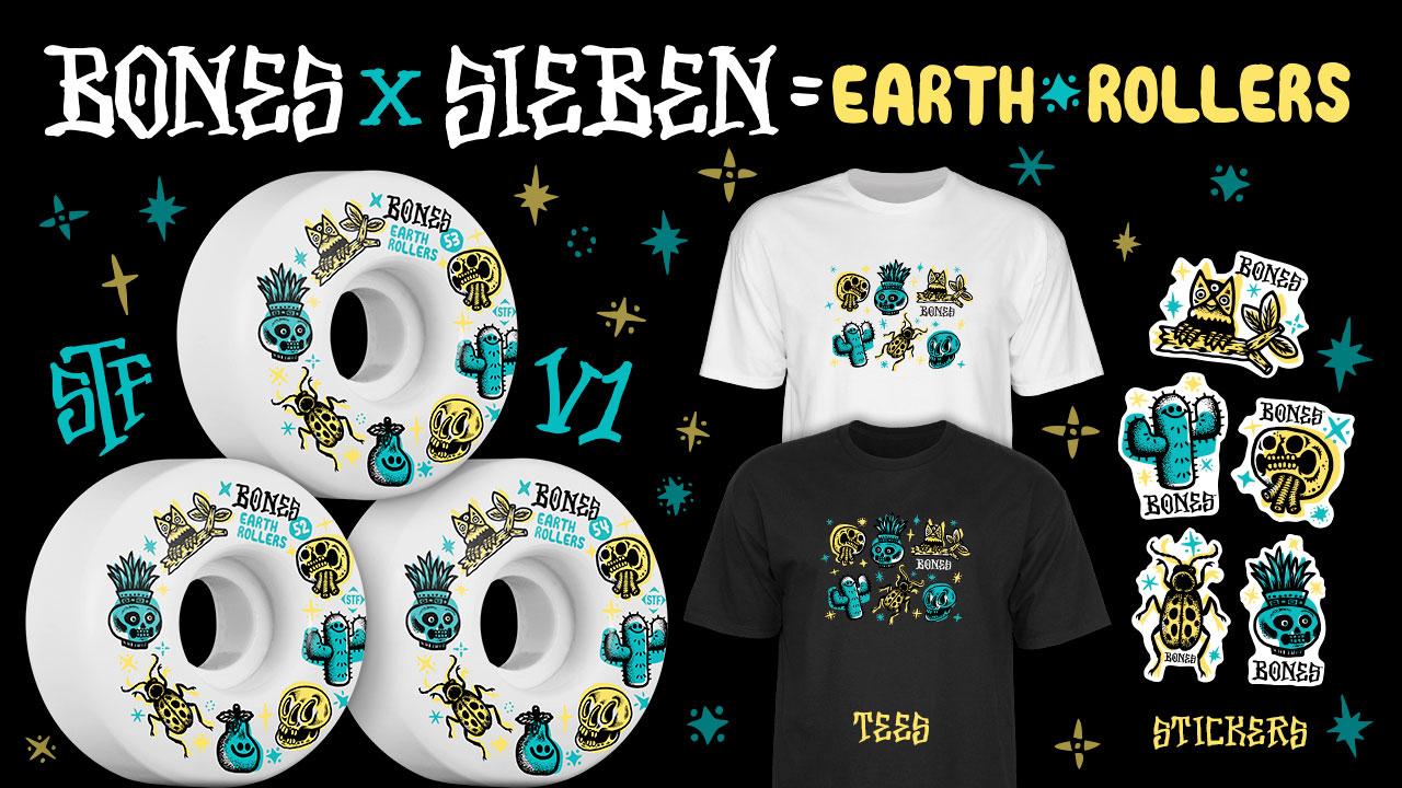 BONES Wheels X Michael Sieben - Earth Roller Wheels