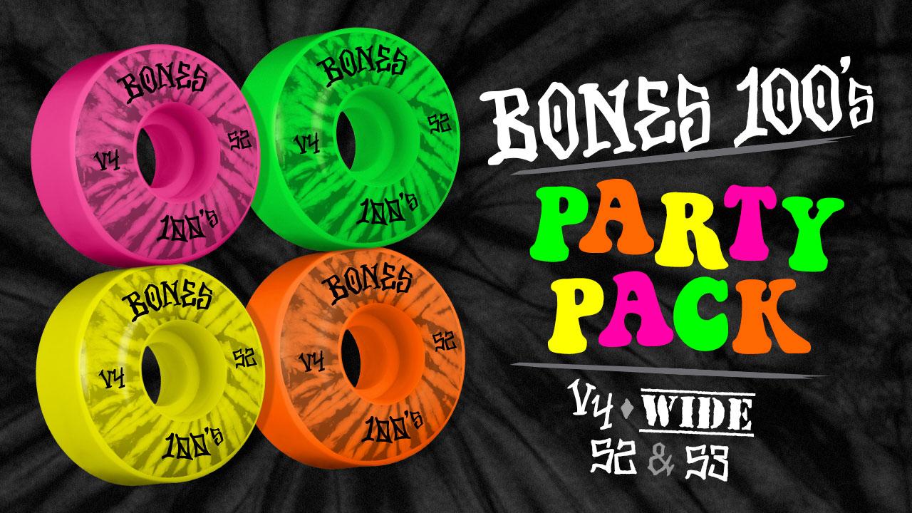 BONES WHEELS - 100's Party Pack