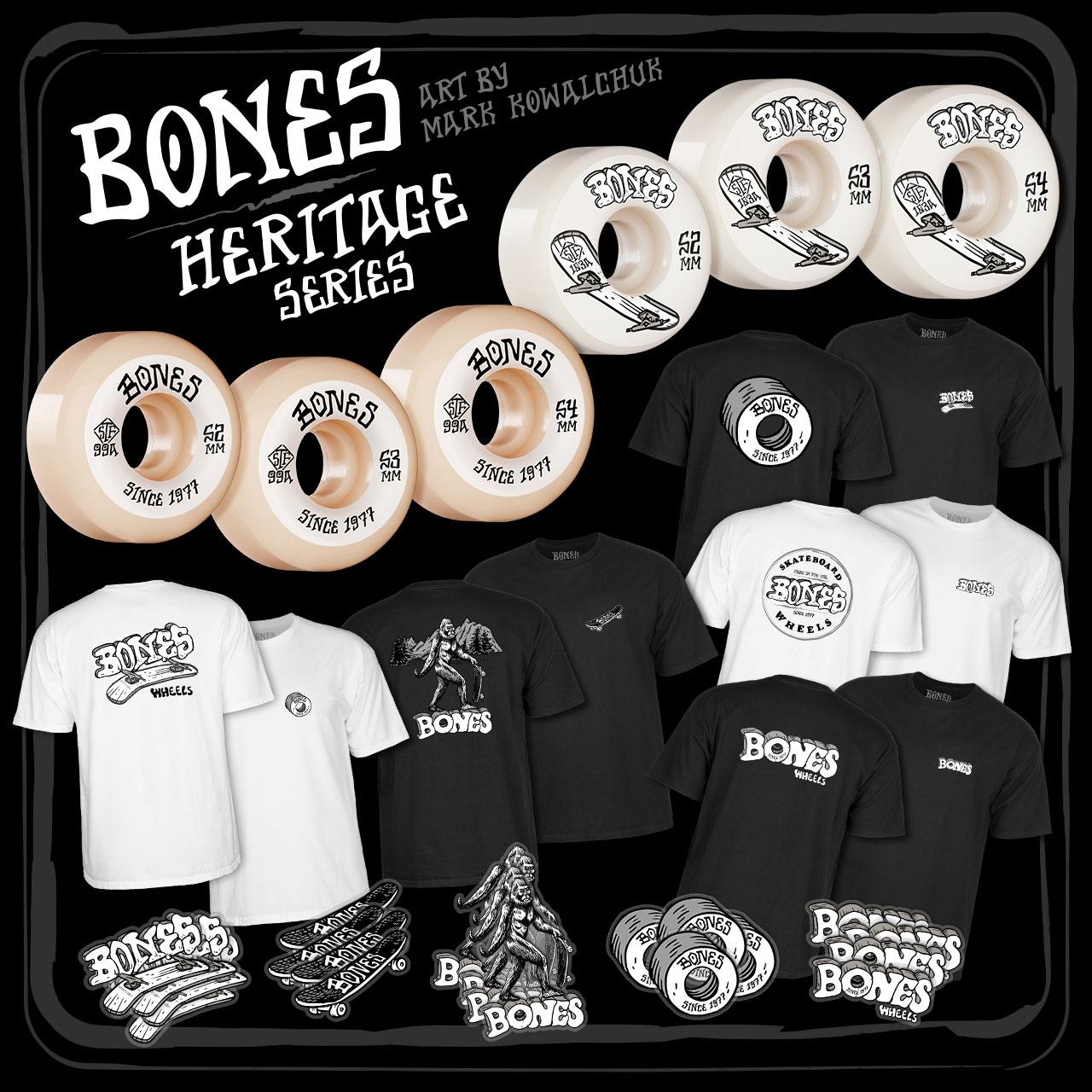 BONES WHEELS - Heritage Series