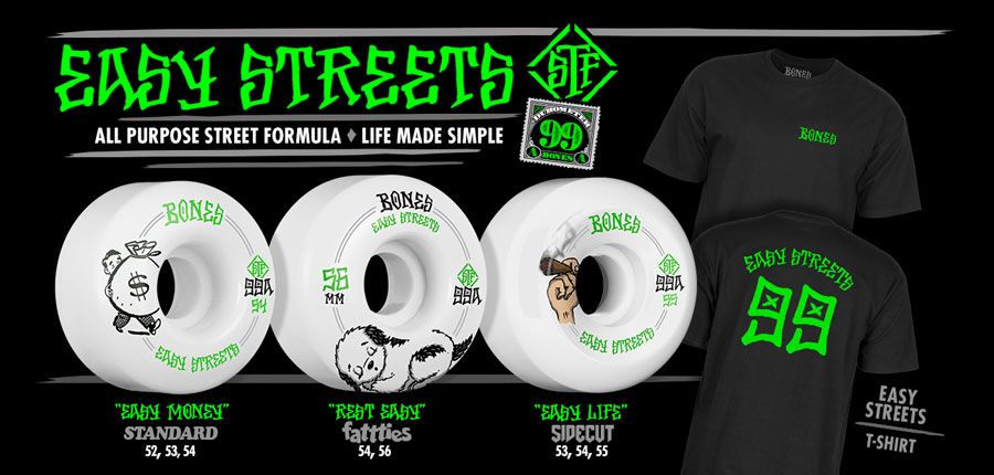 New Bones Wheels Easy Streets