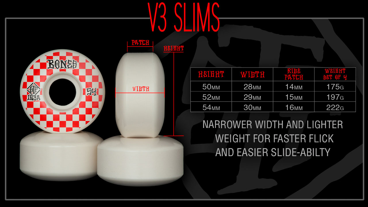 BONES Wheels V3 Slims