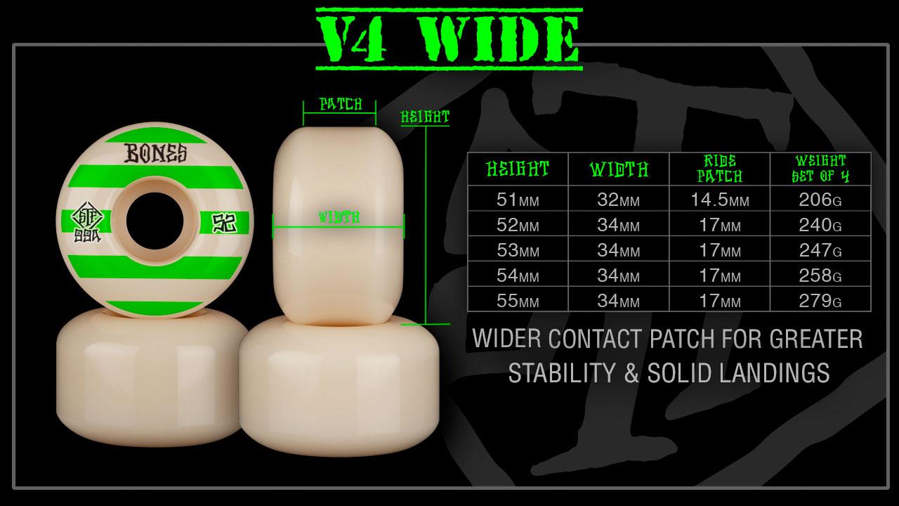 BONES Wheels V4 Wide