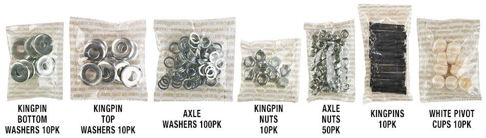 Mini Logo™ Risers / Hardware / Truck Kits