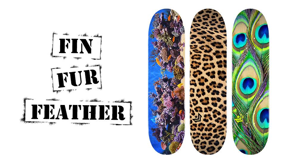 Mini Logo Fin Fur Feather Series Decks