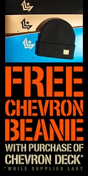 Free Beanie with Mini Logo Chevron Deck Purchase